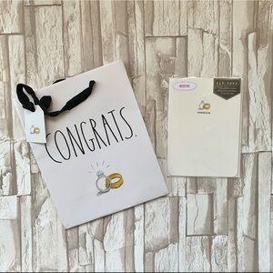 Rae Dunn Gift Bag and Card